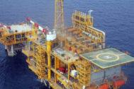 Plataforma marina del gas Castor, frente a las costas de Vinaròs.