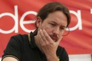 Pablo Iglesias, líder de Podemos, en una conferencia el pasado domingo.