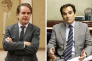 De izqda. a dcha., los ex secretarios de Estado Roberto Bermúdez de Castro y José Antonio Nieto.