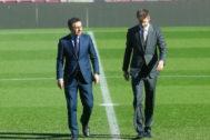 Josep Maria Bartomeu y Gerard Piqué.