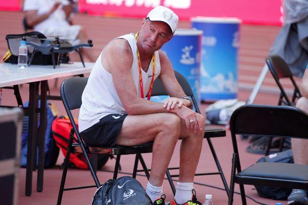 FILE PHOTO: Coach <HIT>Alberto</HIT> <HIT>Salazar</HIT> sits inside...
