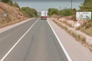 Carretera CV-21 entre l'Alcora y Onda.
