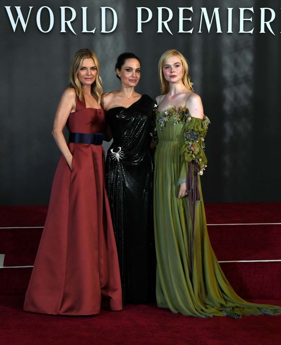 Michelle Pfeiffer, Angelina Jolie y Elle Fanning - Estreno ...