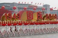Uno de los momentos del desfile militar que ha conmemorado hoy el 70 aniversario de la República Popular China, en Pekín.