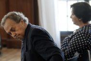 Tomás Pérez-Sauquillo y Gracia Rodríguez, de Aceitunas Tatis, durante el juicio.