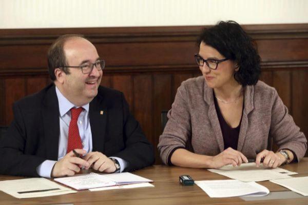 Los dirigentes del PSC Miquel Iceta y Eva Granados.