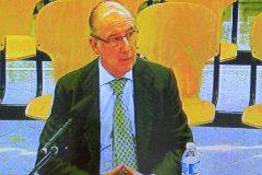 Rodrigo Rato, durante un moemnto del juicio de Bankia celebrado en la Audiencia Nacional