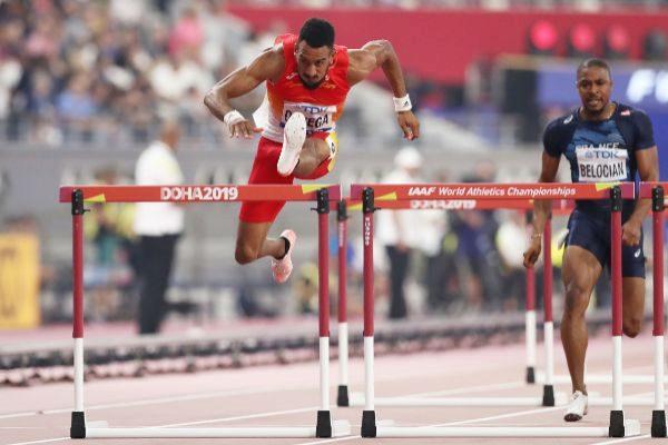 Ortega, durante la clasificación del lunes en Doha.