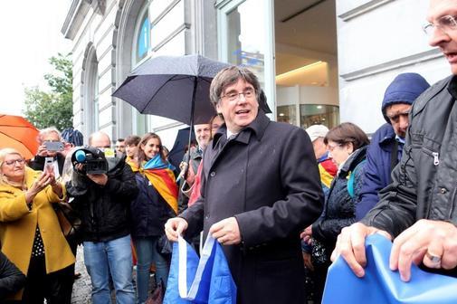 El ex presidente de Cataluña, Carles Puigdemont, en una...