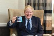 El 'premier' británico, Boris Johnson, en la conferencia del Partido Conservador que está teniendo lugar estos días en Manchester.