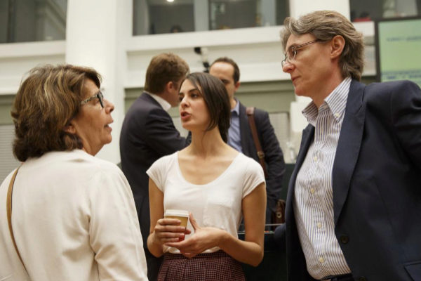 Inés Sabanés, Rita Maestre y Marta Higueras, en el Pleno del...