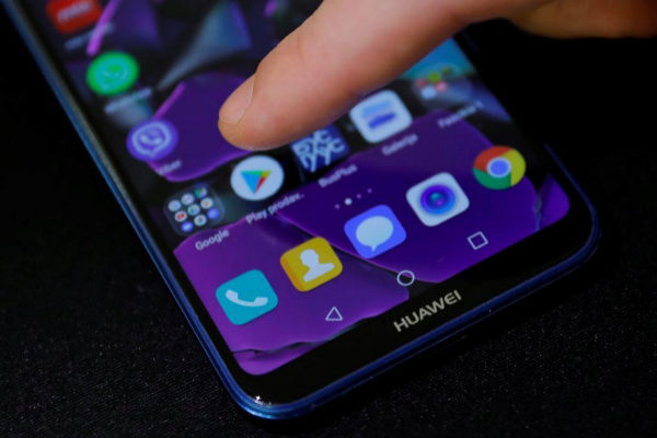 Un teléfono móvil de la marca Huawei.