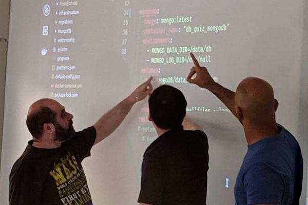 Asistentes a un 'bootcamp' organizado por GeeksHubs.