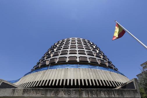 Detalle del edificio del Tribunal Constitucional, en Madrid.