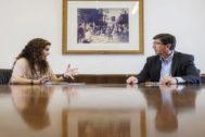 María Jesús Montero y Juan Marín, vicepresidente de la Junta y líder de Cs en Andalucía.