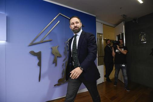 El presidente de Vox, Santiago Abascal, en el Congreso de los...