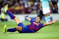 GRAF3654. BARCELONA.- El delantero del FC Barcelona Luis <HIT>Suárez</HIT>, urante el partido de la segunda jornada de la Liga de Campeones ante el Inter de Milán disputado este miércoles en el Camp Nou, en Barcelona.