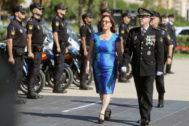 La subdelegada del Gobierno en Castellón, Soledad Ten, y el comisario jefe, Emilio Romero, este miércoles.
