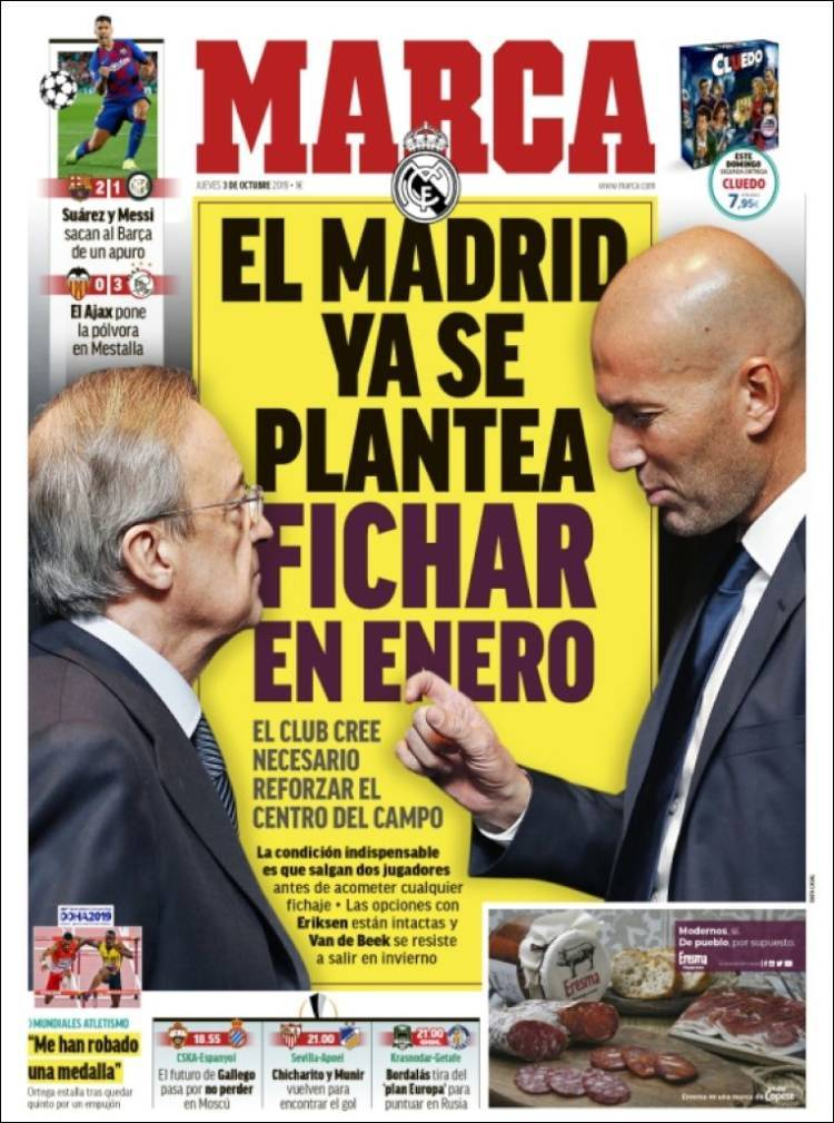 Las portadas de los periódicos deportivos del 3 de octubre