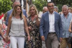 La secretaria general del PSOE, Susana Díaz, junto a Ignacio Caraballo en una visita a Huelva.