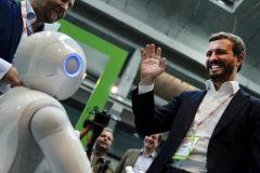 El presidente del PP, Pablo Casado, en el evento de tecnología South Summit, este miércoles, en Madrid.