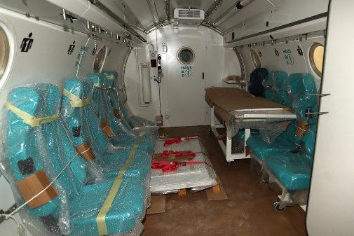 Cámara Hiperbárica del Hospital General de castellón. Carthago Servicios Técnicos.