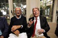 Pere Portabella y Jorge Herralde, fundador de Anagrama.