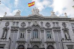 Fachada principal del edificio del Tribunal Supremo, en Madrid.