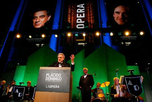 LOS ANGELES, CA - APRIL 18: Opera tenor <HIT>Placido</HIT> Domingo speaks at the 40th Anniversary Gala honoring him presented by the LA Opera held at the Dorothy Chandler Pavilion on April 18, 2008 in Los Angeles, California. (Photo by Michael Tran/FilmMagic) Es de Getty. Para Cultura. Pablo Gil. 02.10.2019