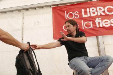 Pablo Iglesias, el pasado 29 de octubre, durante su intervención en las fiestas del PCE.