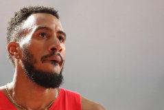 Orlando Ortega, tras su final de los 110 metros vallas, el miércoles.