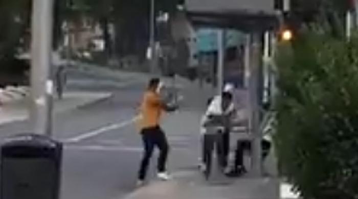 Un momento de la agresión en Hortaleza.