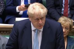 Boris Johnson interviene en la Cámara de los Comunes, en Londres.