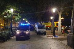 Desalojada la acampada de los 'sin techo' frente al Prado