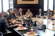 Reunión de la Mesa de Parlament en octubre de 2017.