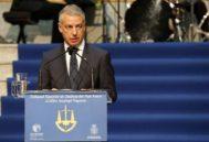 El lehendakari Urkullu durante su intervención en el acto de Apertura del Año Judicial en Bilbao.