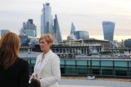 La consejera Arantxa Tapia durante su visita a la capital británica.