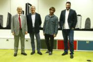 Miguel Ors, director adjunto de Actualidad Económica; Borja Vidaurre, portavoz de Provap; Borja Allué, administrador único de Myblu y Alejandro Zamarro, vocal de Fasyde.
