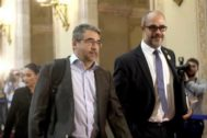 Martínez junto al conseller Buch en una imagen de archivo