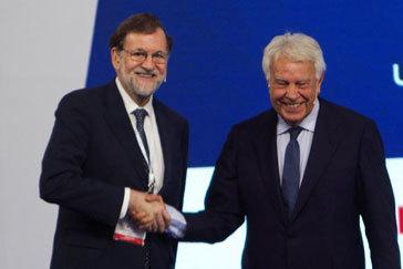 """González y Rajoy defienden que PSOE y PP pacten en lo fundamental para salir del """"bloquismo"""""""