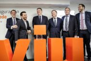 El conseller de Educación, Vicent Marzà, y el presidente de la Generalitat, Ximo Puig, el día de la inauguración de la sede de la VIU en Pintor Sorolla.