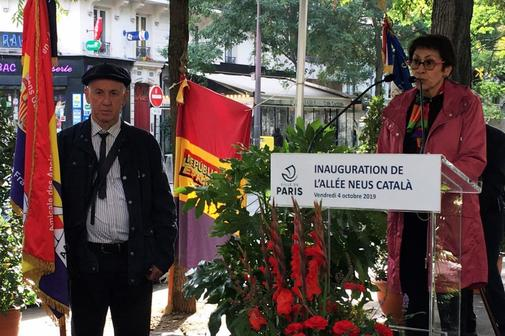 La hija de Neus Català, Margarita, interviene en el homenaje a su...