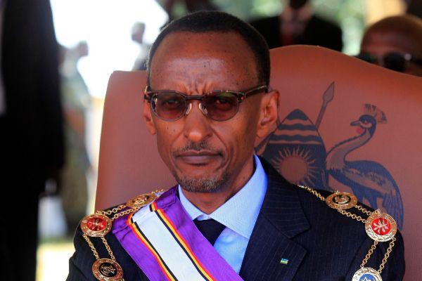 Rwandan President Paul <HIT>Kagame</HIT> wears the Pearl of Africa...