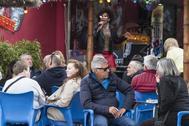 Turistas británicos en Benidorm.