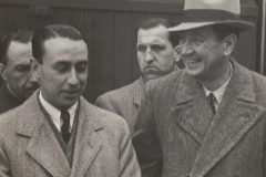 Eduardo Teus (izda), seleccionador nacional antes del partido con Francia.