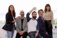 Luis Tosar, Ernesto Alterio, Belén Cuesta, Macarena García y el director Artiz Moreno, durante la presentación de su película'.
