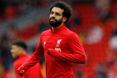 """Soccer Football - Premier League - <HIT>Liverpool</HIT> v Leicester City - Anfield, <HIT>Liverpool</HIT>, Britain - October 5, 2019 <HIT>Liverpool</HIT>'s Mohamed Salah during the warm up before the match REUTERS/Phil Noble EDITORIAL USE ONLY. No use with unauthorized audio, video, data, fixture lists, club/league logos or """"live"""" services. Online in-match use limited to 75 images, no video emulation. No use in betting, games or single club/league/player publications. Please contact your account representative for further details"""
