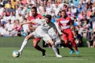 Valverde, durante el partido contra el Granada.