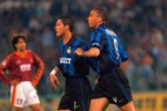 Ronaldo y Simeone, en el Inter de Milán en 1997.