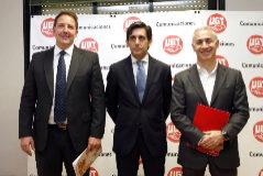 Laurent Paillassot (Orange), José María Álvarez-Pallete (Telefónica) y António Coimbra (Vodafone).